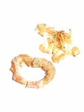Dried shrimp. In different sizes Stock Photos