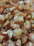 Dried Shrimp is a dry food. orange color. By drying it to prevent food spoilage and keep it longer. can be cooked or eaten.The dried shrimp in the natural way Royalty Free Stock Photography