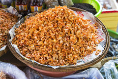 Dried shrimp in kep market cambodia Royalty Free Stock Photography