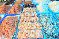 Dried shrimp market Royalty Free Stock Photos