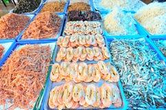 Dried shrimp market Royalty Free Stock Photos