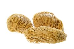 Dried Shrimp Noodles Isolated Stock Images