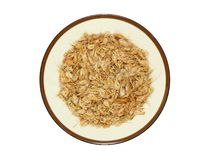 Dried shrimp in plate Royalty Free Stock Photography