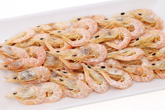 Dried shrimp on plate Royalty Free Stock Photography