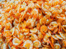 Dried shrimp, preserved food, at the seafood market. Dried shrimp, preserved food, at the seafood market, Thailand Royalty Free Stock Images