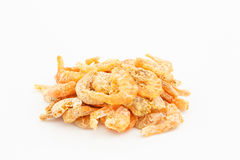 Dried shrimp on white background Stock Photography