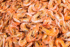 Dried Shrimps Background Stock Photo