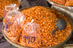 Dried shrimps in chinese market Stock Images