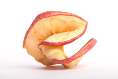 Dried slice of red apple Stock Images