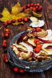 Dried sliced apples Stock Images