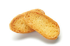 Dried sliced baguette Royalty Free Stock Photography