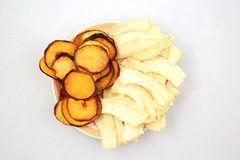 Dried slices of sweet melon and peach Royalty Free Stock Photos