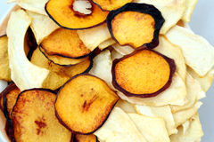 Dried slices of sweet melon and peach Royalty Free Stock Images