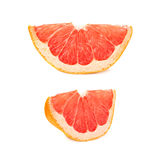 Dried small slice section of grapefruit isolated over the white background Royalty Free Stock Photography