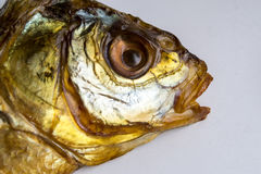 Dried Smoked Fish Head Royalty Free Stock Images