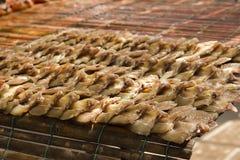 Dried snakehead fish Simple food menu stock image
