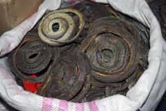 Dried snakes in Qingping Market, Guangzhou, China stock photography
