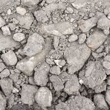 Dried soil covered with stones and dust Stock Photography