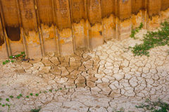 Dried soil cracked texture. Stock Photos