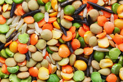 Dried soup mix macro Royalty Free Stock Image