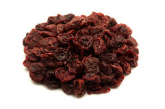 Dried sour cherries. On a white background Stock Images