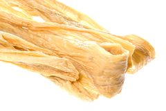 Dried Soya Bean Curd Strips Royalty Free Stock Photography