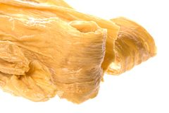 Dried soya bean curd strips Stock Photo