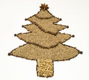 Dried Spice Christmas Tree Stock Photo