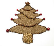 Dried Spice Christmas Tree Stock Photos