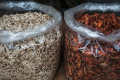 Dried spices. A shot of assortment of spices taken at a local street market in Guilin China Stock Photos