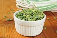 Dried split peas Royalty Free Stock Image