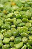 Dried split peas macro. Close-up view of dried split peas stock photography