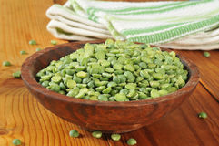 Dried split peas Stock Images