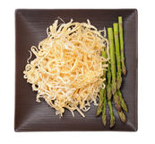 Dried squid and asparagus Royalty Free Stock Image
