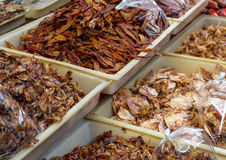Dried squid in food market Royalty Free Stock Images