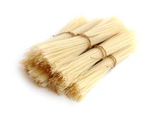Dried stick noodle Stock Photo