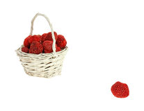 Dried Strawberries Basket Plus One Royalty Free Stock Image