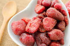 Dried strawberries. Royalty Free Stock Photo