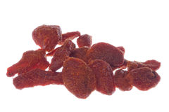Dried Strawberries Macro Isolated Royalty Free Stock Image