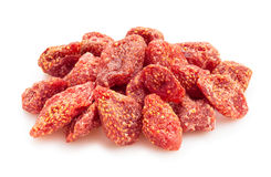 Dried strawberry. On white background Stock Photography