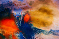 Dried streaks of multicolored paint with cracks Royalty Free Stock Photos