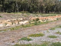 Dried streambed in Western Australia Royalty Free Stock Image