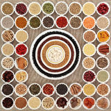 Dried Super Food Sampler Royalty Free Stock Photography