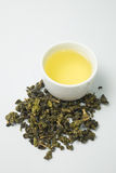 Dried tea isolated white background. Royalty Free Stock Photo