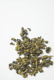 Dried tea isolated white background. Royalty Free Stock Photography