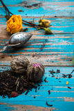 Dried tea leaves for brewing tea Royalty Free Stock Photos