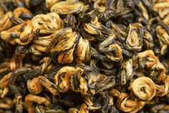Dried tea leaves closeup as background Royalty Free Stock Photography