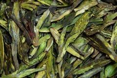 Dried tea leaves closeup as background. Dried tea leaves closeup as backdrop Royalty Free Stock Images