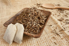 Dried tea leaves Stock Image