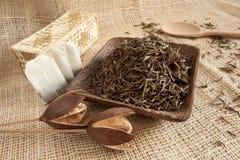 Dried tea leaves Stock Photos